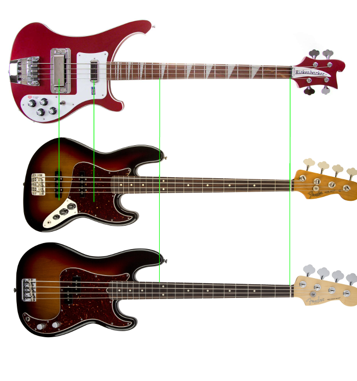 Rickenbacker vs Jazz Bass vs Precision